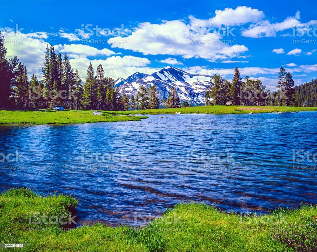 Tioga Pass Yosemite National Park California stock photo