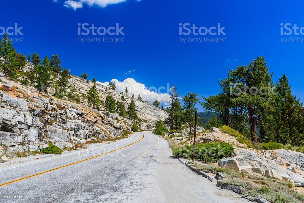 Tioga Pass, Yosemite National Park, Sierra Nevada, USA stock photo