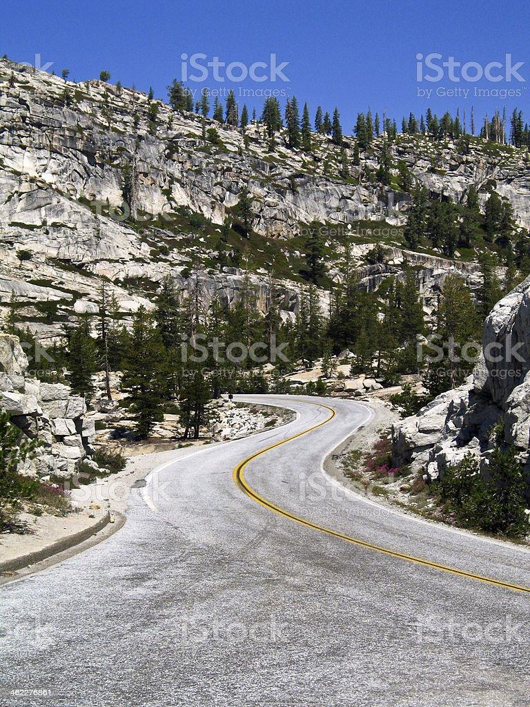 Tioga Road in Yosemite National Park stock photo