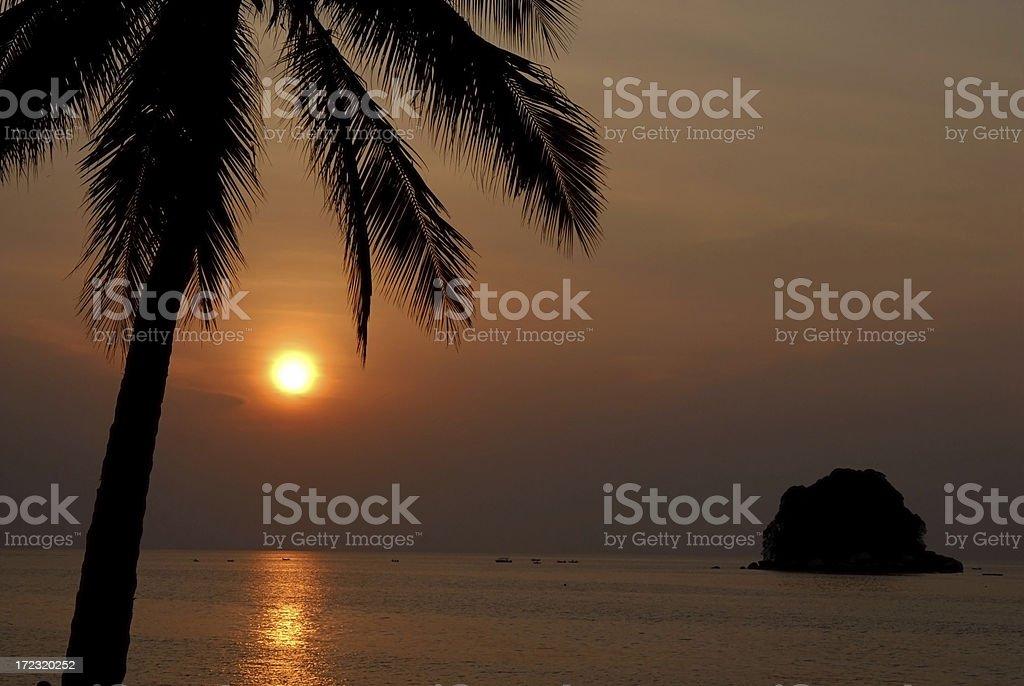 Tioman Sunset royalty-free stock photo