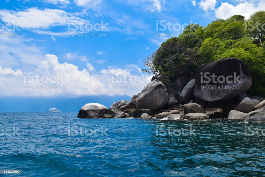Tioman tropical island. Malaysia stock photo