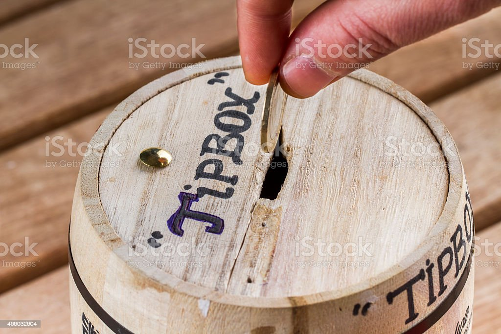 Tip Box stock photo