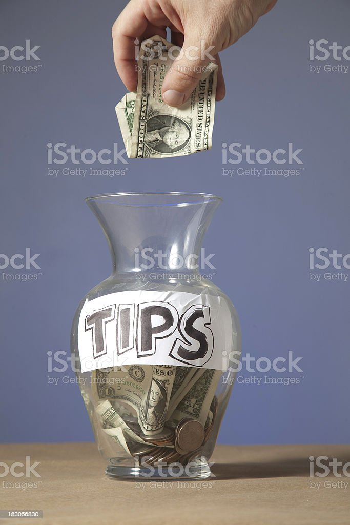 Tip Jar royalty-free stock photo