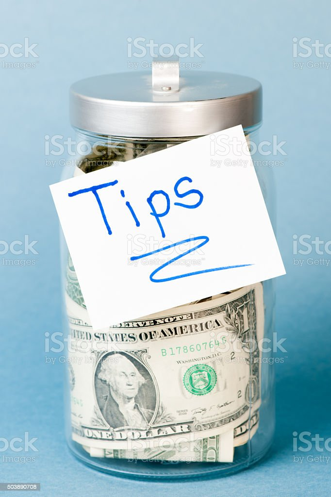 Tip Jar stock photo