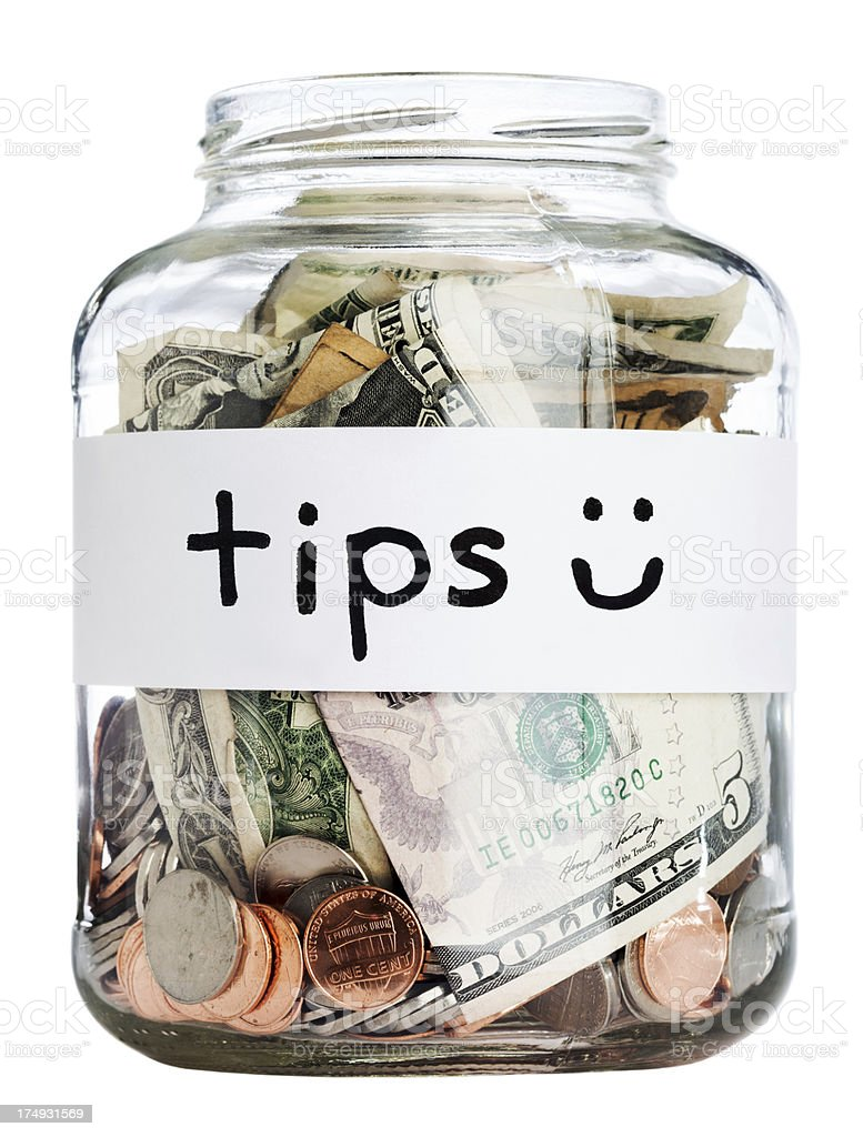 Tip Jar w/ Clipping Path stock photo