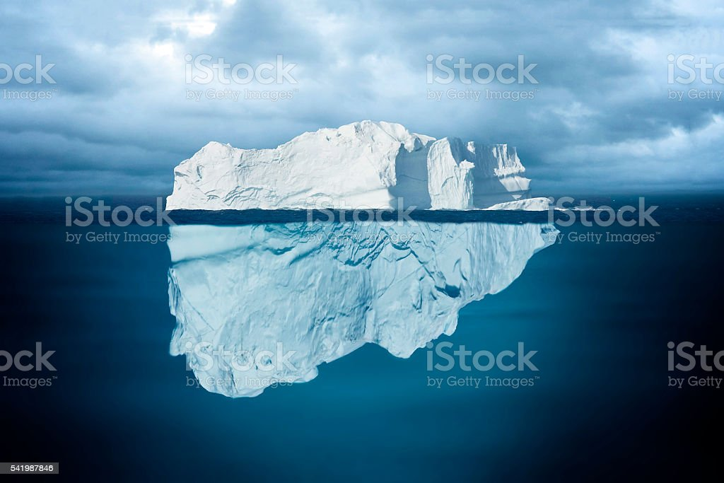 Tip of an Iceberg stock photo