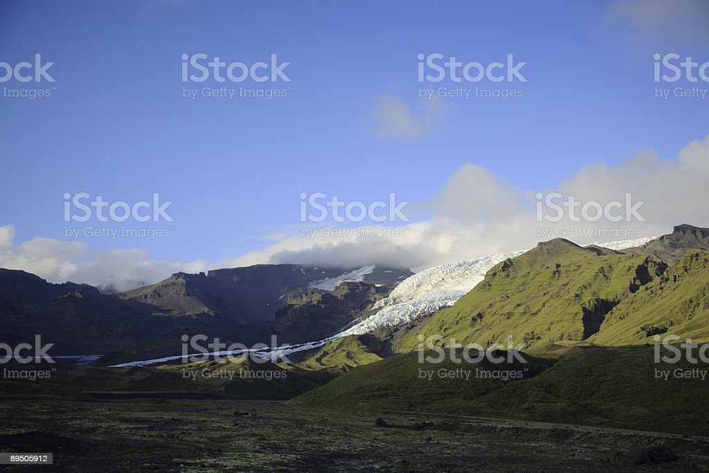 Tip of the glacier stock photo