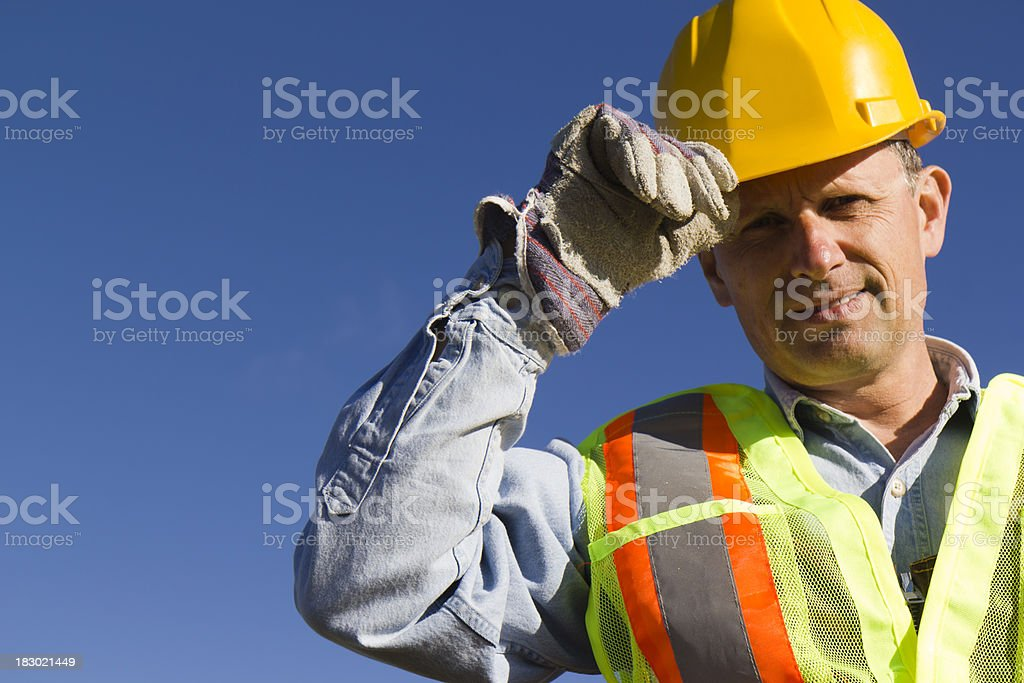 Tip of the Hardhat royalty-free stock photo