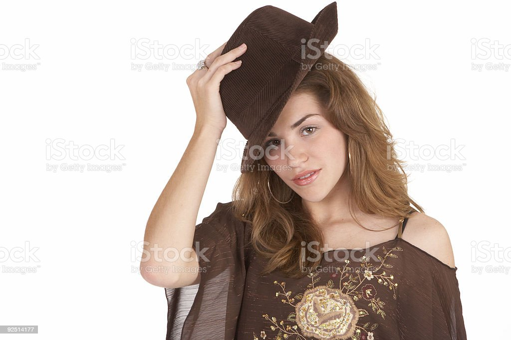 Tip of the hat stock photo