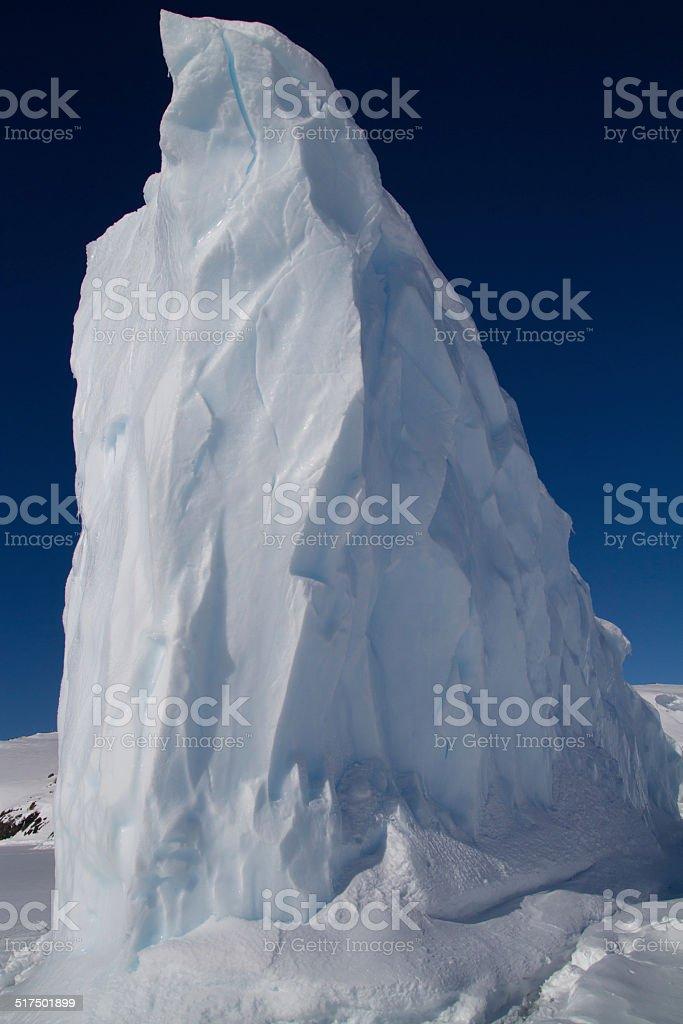 tip of the iceberg in Antarctic waters frozen winter day stock photo