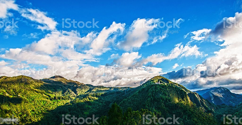 Tip of the Mountain in Bogota. stock photo
