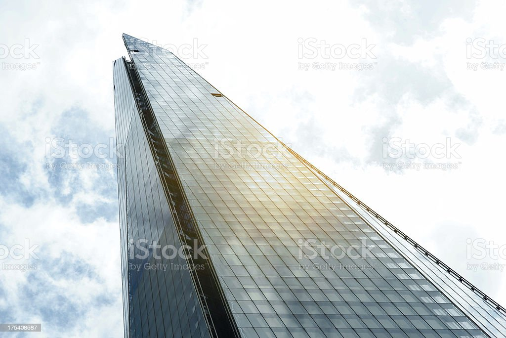 Tip of The Shard royalty-free stock photo