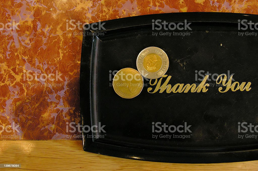 Tip plate. stock photo