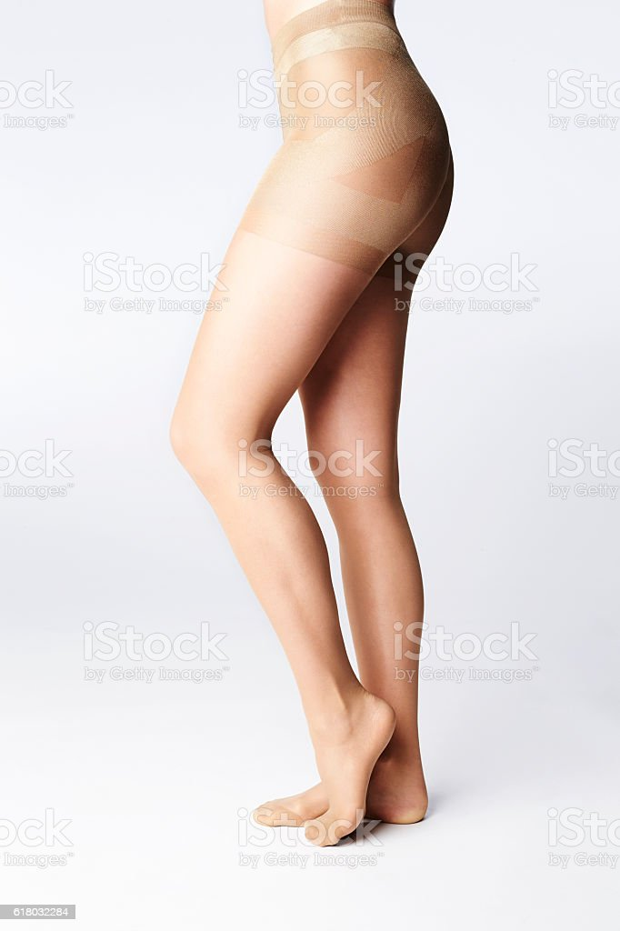 Tip toe in tights stock photo