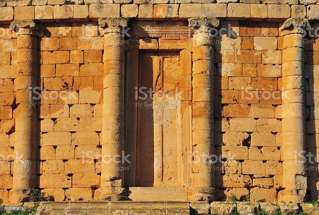 Tipasa, Algeria: Great Royal Mausoleum of Mauritania stock photo