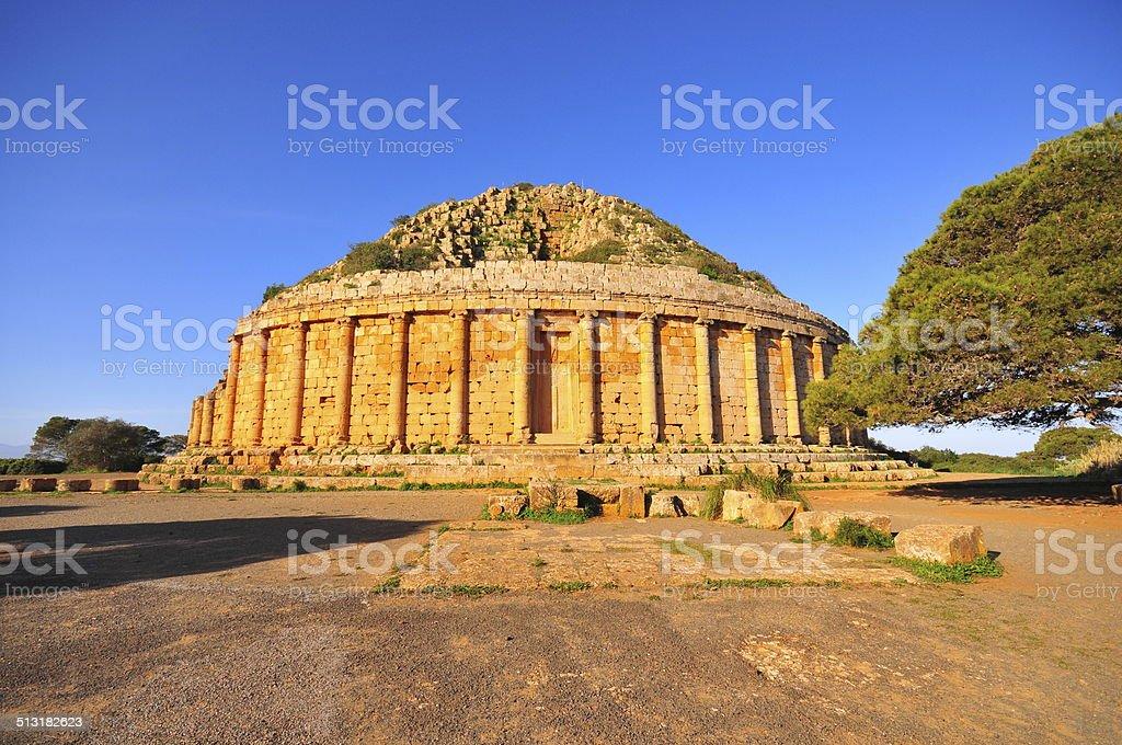 Tipasa, Algeria: Royal Mausoleum of Mauritania stock photo