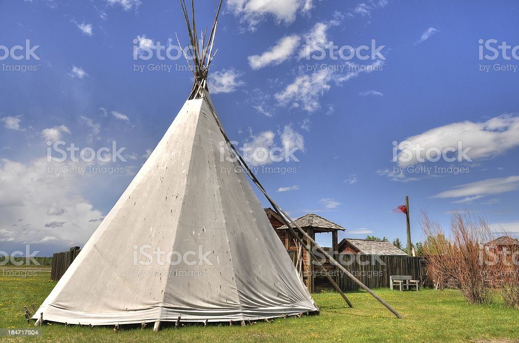 Tipi with blue sky royalty-free stock photo
