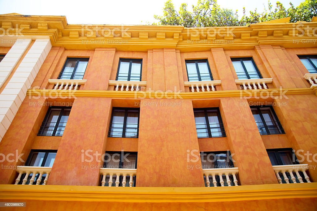 Tipical cartagena architecture royalty-free stock photo