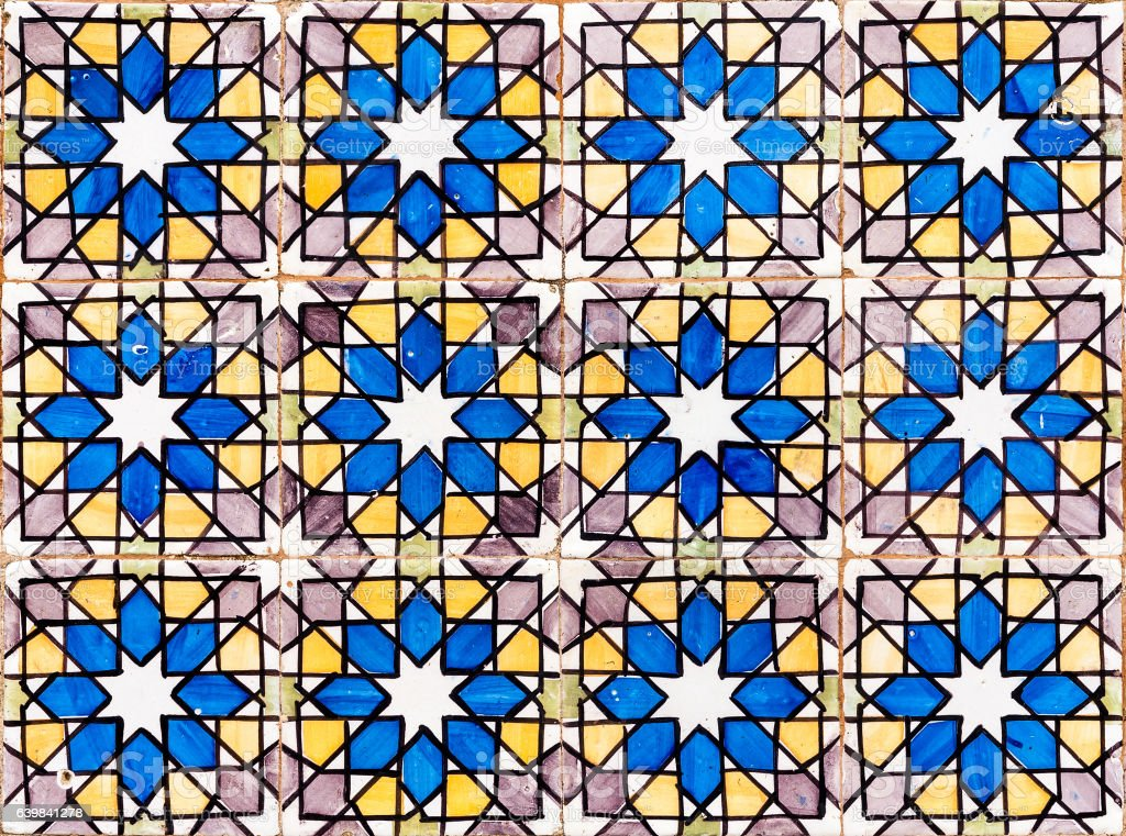 Tipical azulejo background stock photo