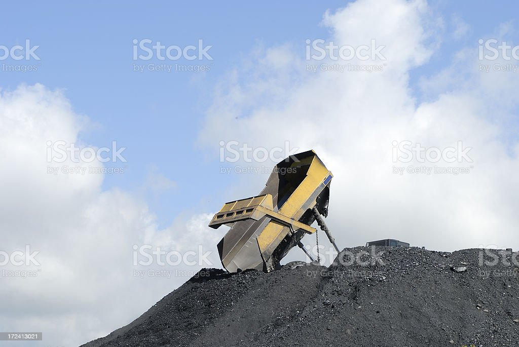 tipping coal royalty-free stock photo