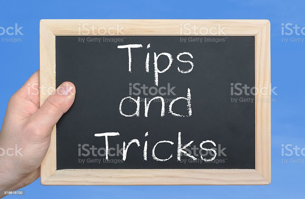 Tips and Tricks - business concept stock photo