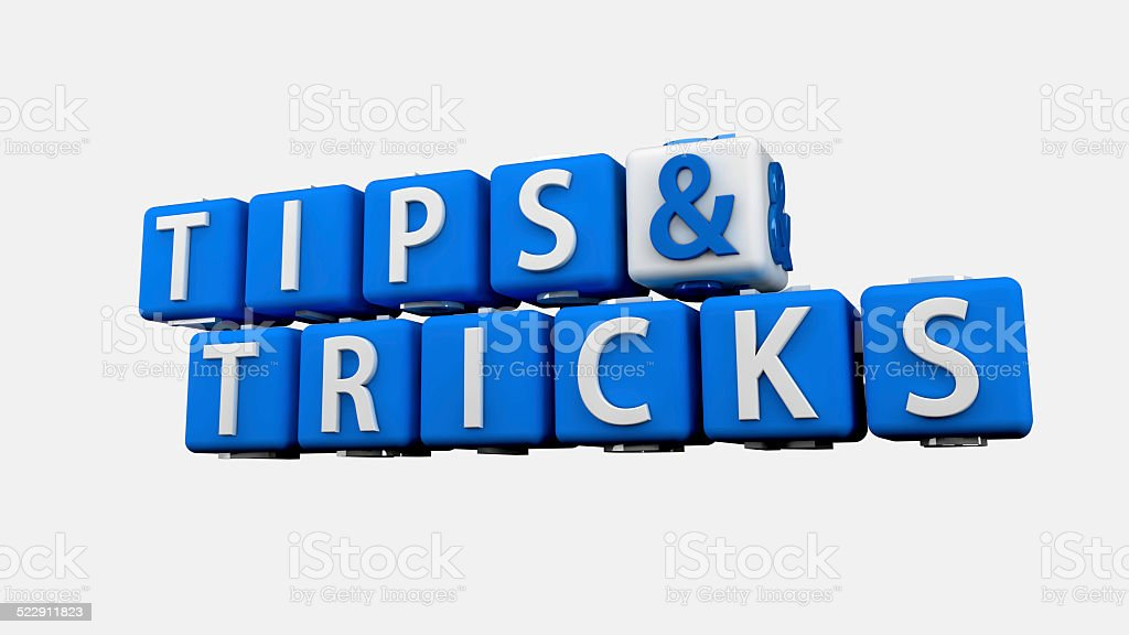 Tips and Tricks Crossword stock photo