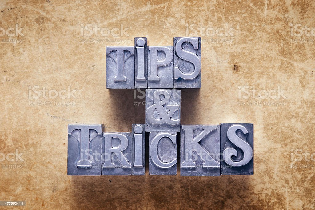 tips and tricks stock photo