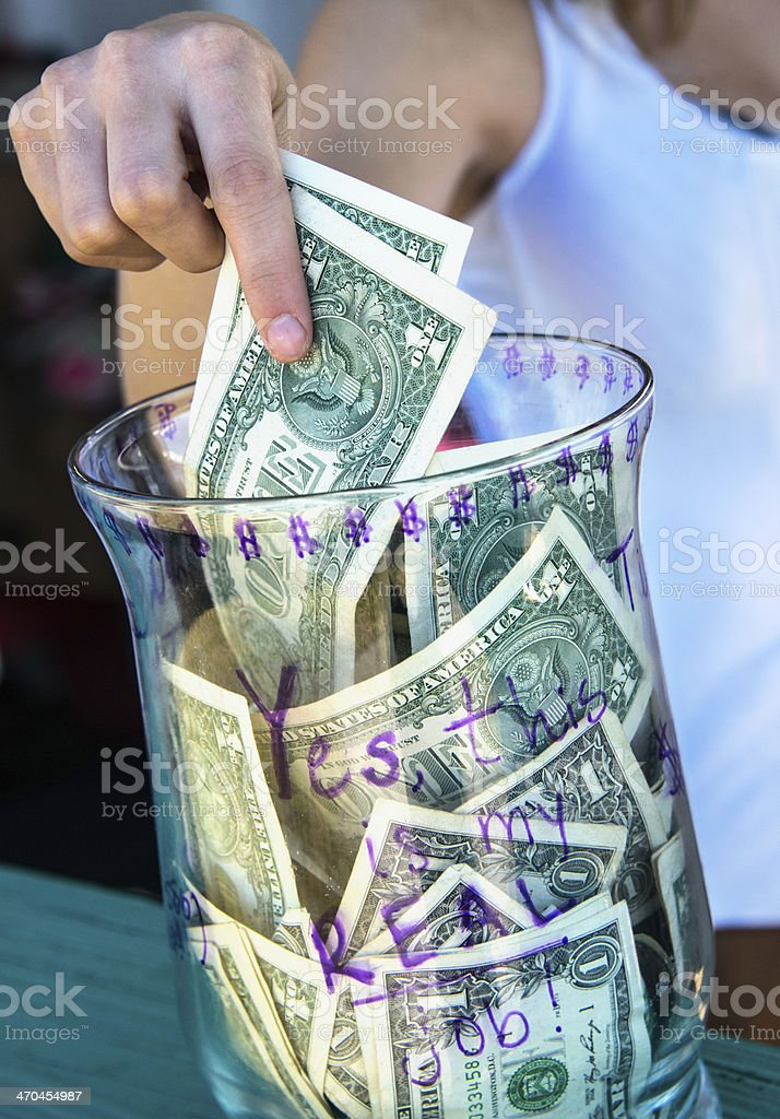 Tips Jar stock photo