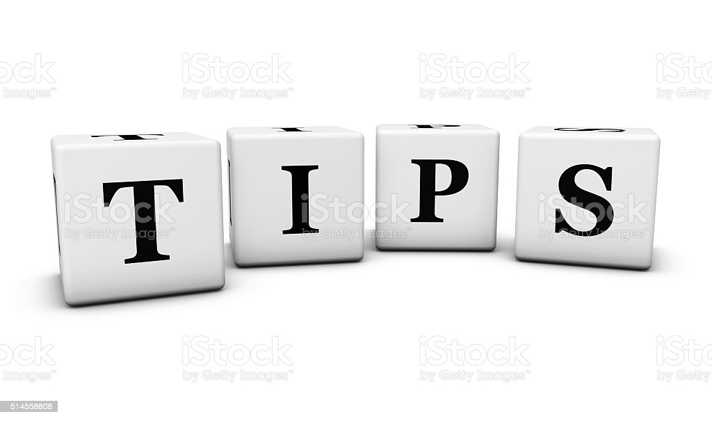 Tips Sign On Cubes stock photo