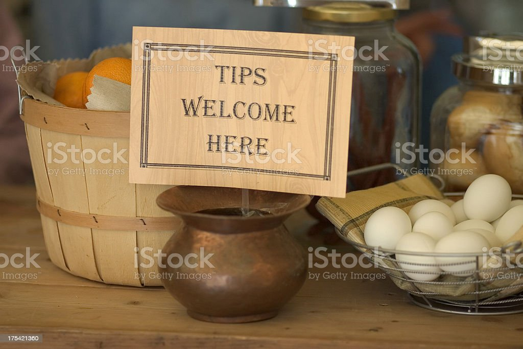 Tips Welcome stock photo
