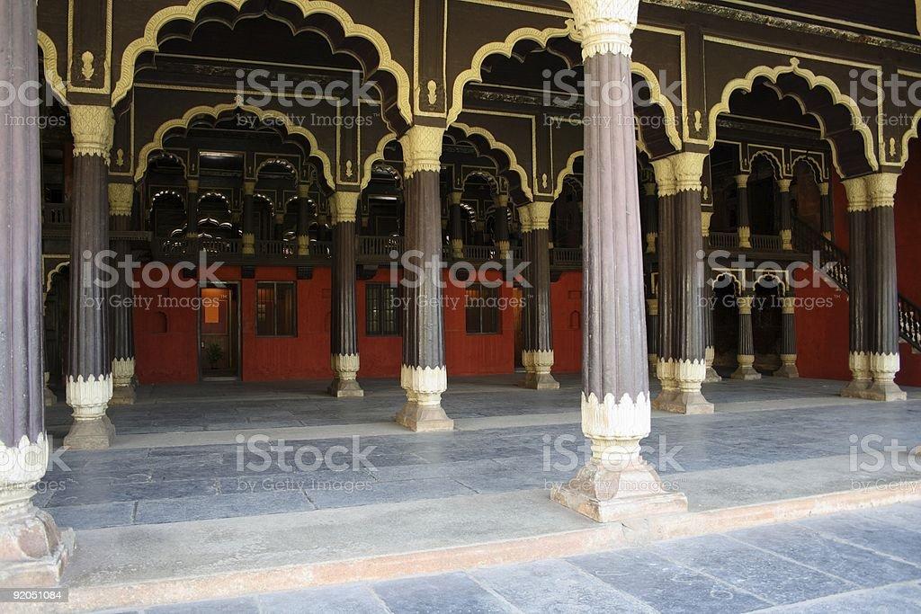 Tipu's summer palace in Bangalore, India royalty-free stock photo
