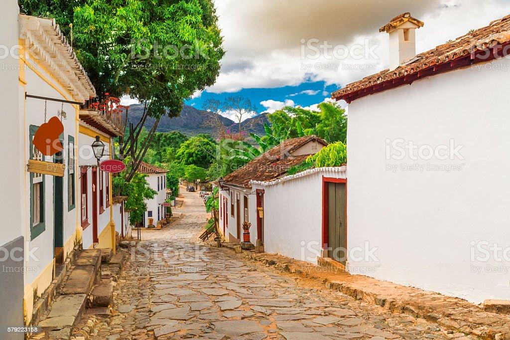Tiradentes city in Minas Gerais State stock photo