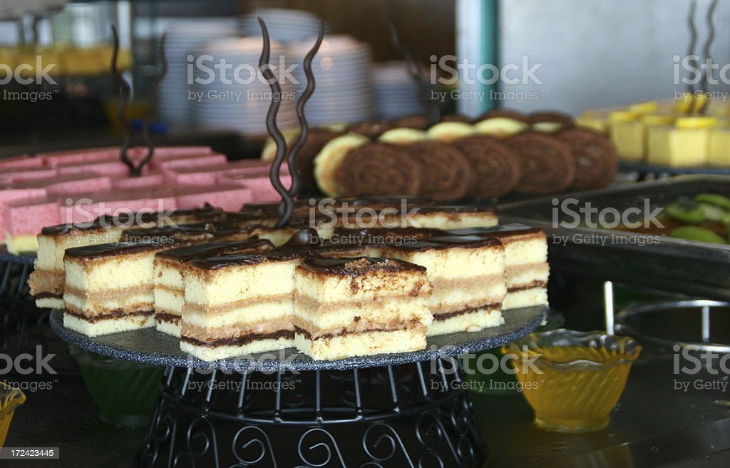 Tiramisu and other desserts royalty-free stock photo