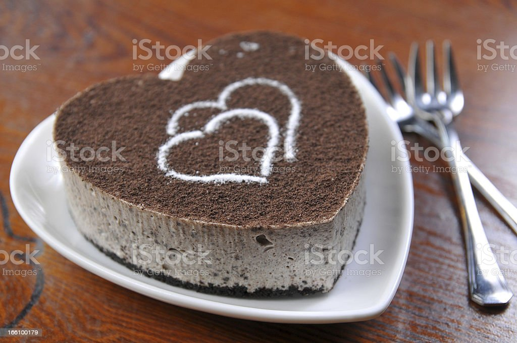 Tiramisu cake royalty-free stock photo