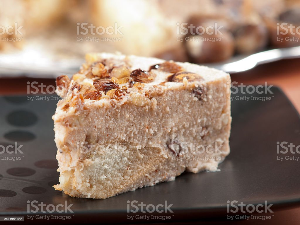 Tiramisu with chestnuts stock photo