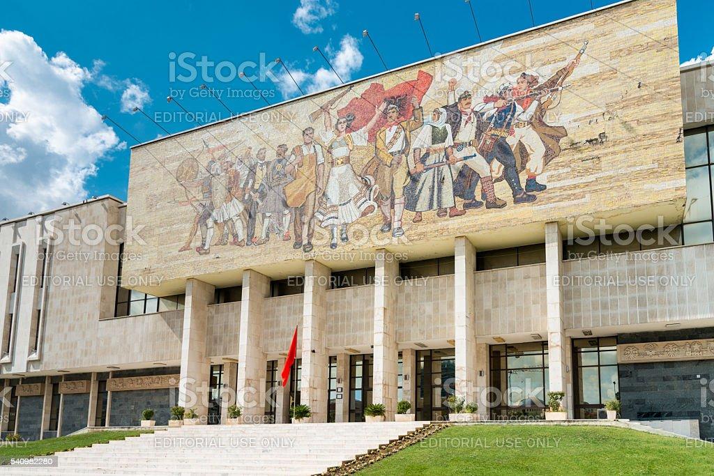 Tirana National History Museum Skanderbeg Square Albania stock photo