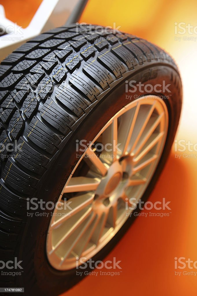 Tire, a part of vehicle royalty-free stock photo