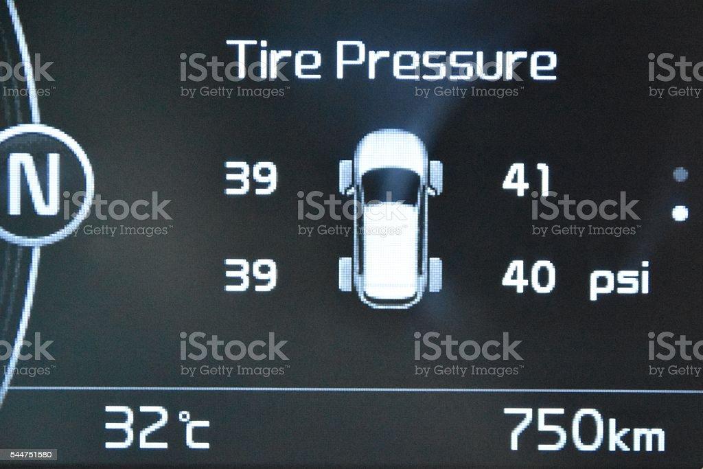 Tire air pressure stock photo