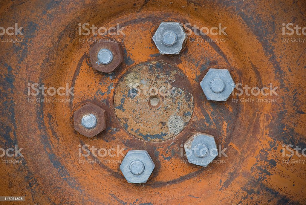 Tire Bolts royalty-free stock photo