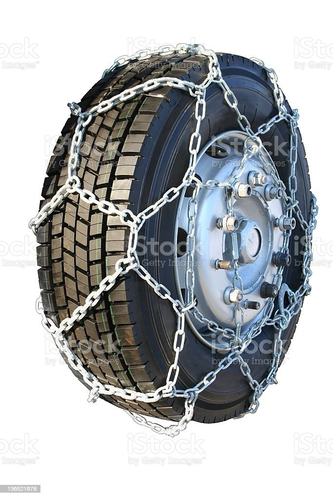 Tire chain royalty-free stock photo