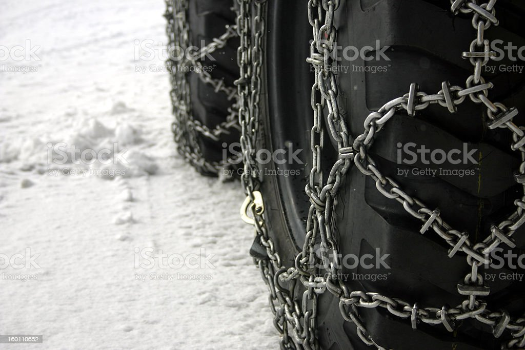 tire chains 2 stock photo