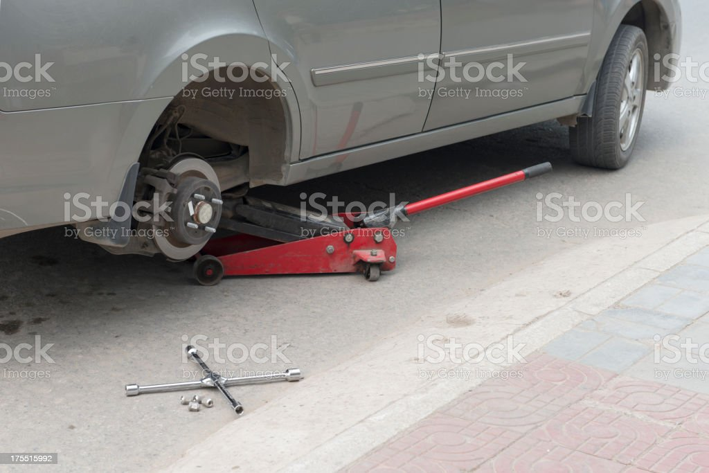 tire change royalty-free stock photo