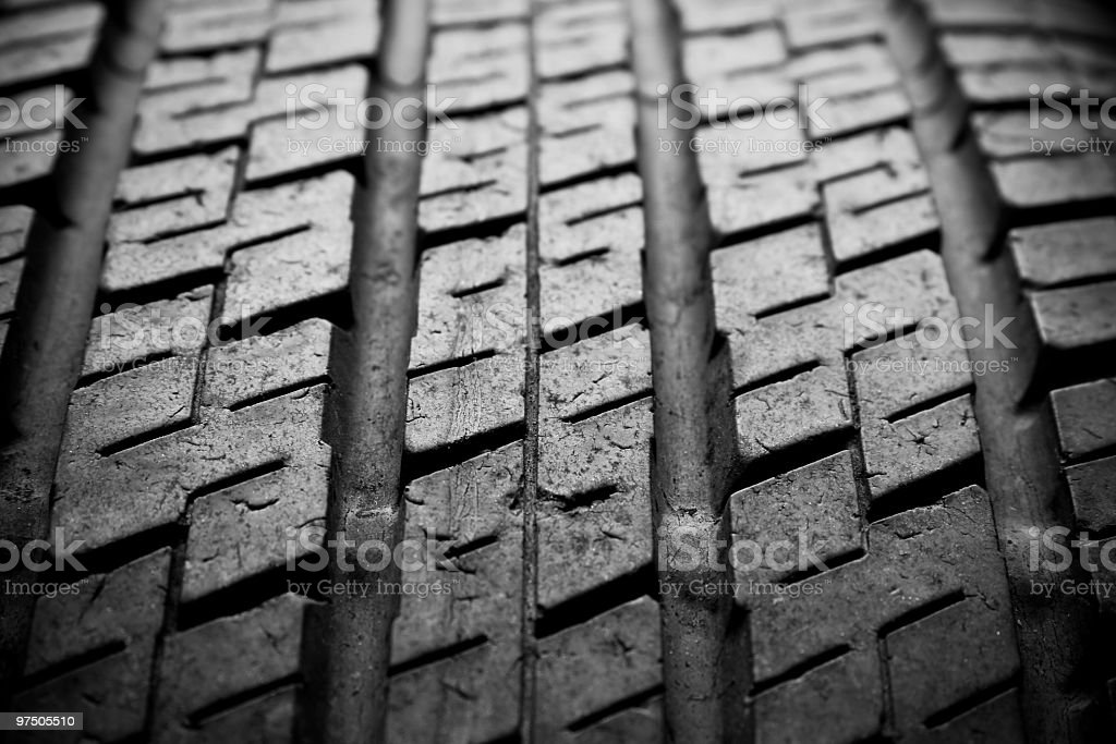 Tire close-up stock photo