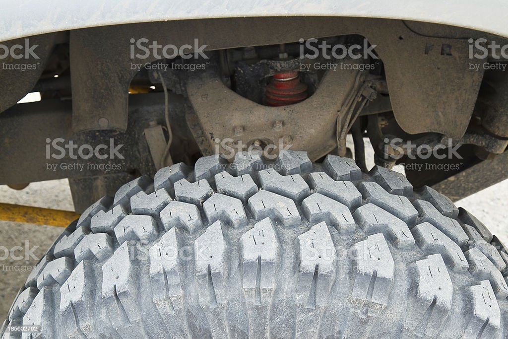 Tire four-wheel drive. royalty-free stock photo