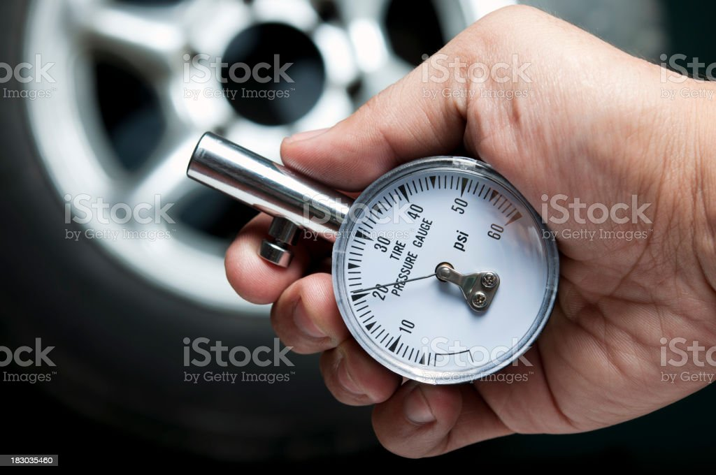 tire gauge royalty-free stock photo