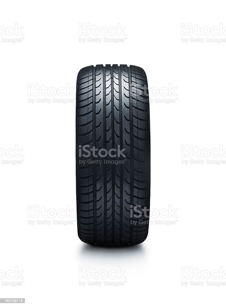 Tire isolated on white stock photo