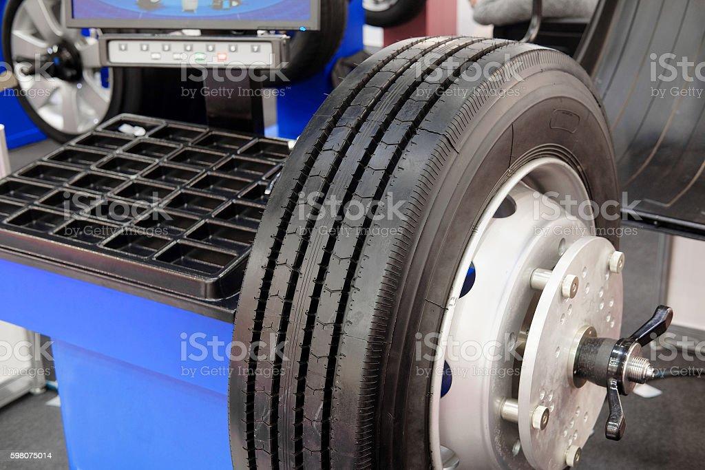 tire machine stock photo
