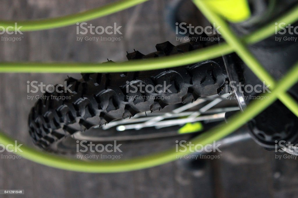Tire of a bicyclette stock photo