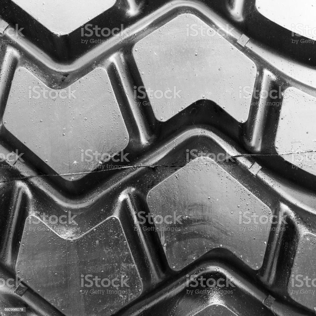 Tire of huge truck stock photo