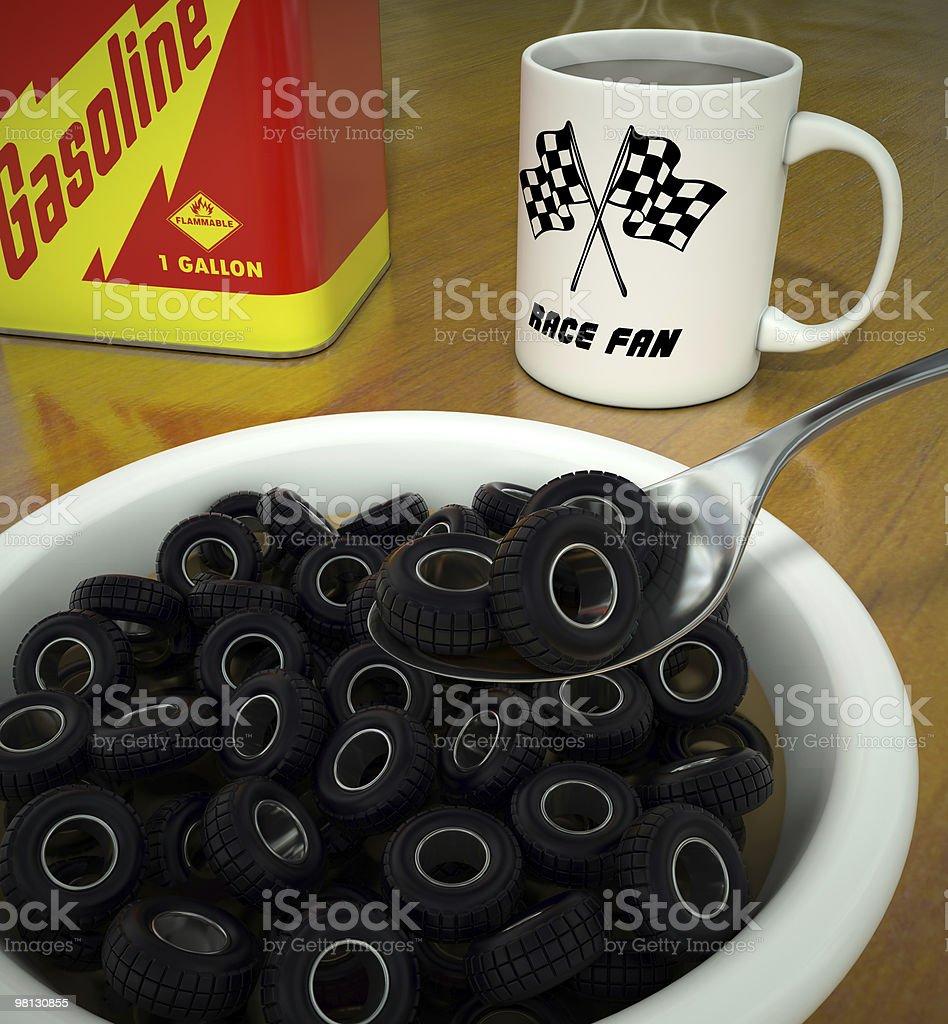 Tire O's Breakfast stock photo